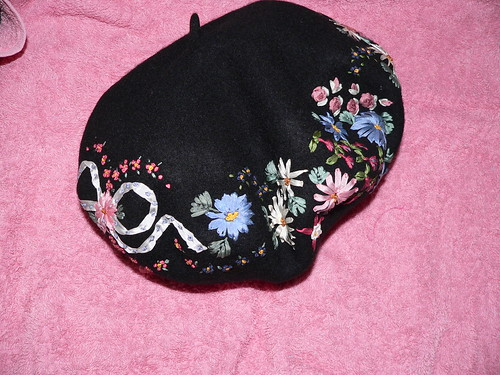 Embroidered Beret