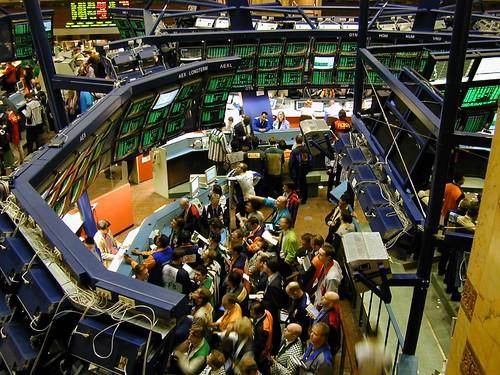 image of stock exchange activity