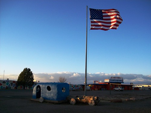 Outside the entrance to Bedrock City, AZ, on the road to the Grand Canyon - bedrock03x