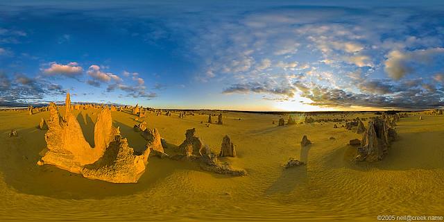 panorama sky + realistic terrain generation