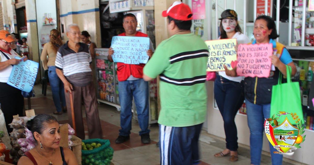 Campaña contra la violencia intrafamiliar se desarrolla en Chone