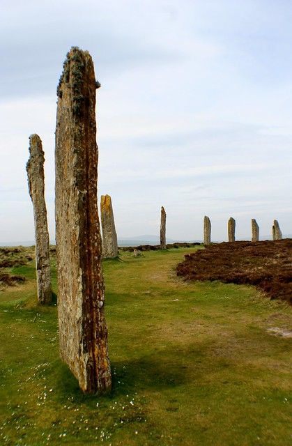 Section of Ring of Brodgar prehistoric site, Orkney, Scotland