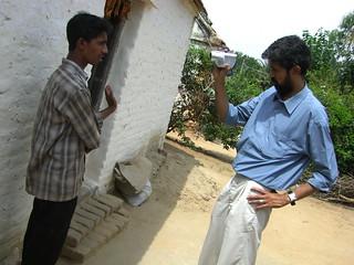 Vishwanath conducting a video interview