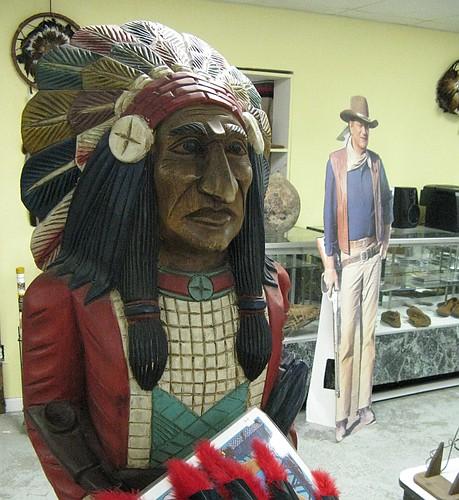 Wooden Indian & JohnWayne
