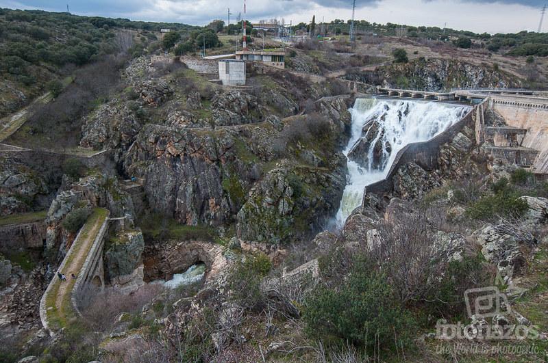 Desagüe del embalse de El Villar