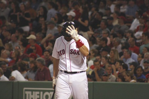 Varitek stands in