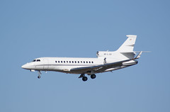 Irish based Falcon 7X ,Arriving Edinburgh with French Rugby Fans.07/03/2014...