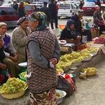 Selling Grapes at Osh Market, Kyrgyzstan