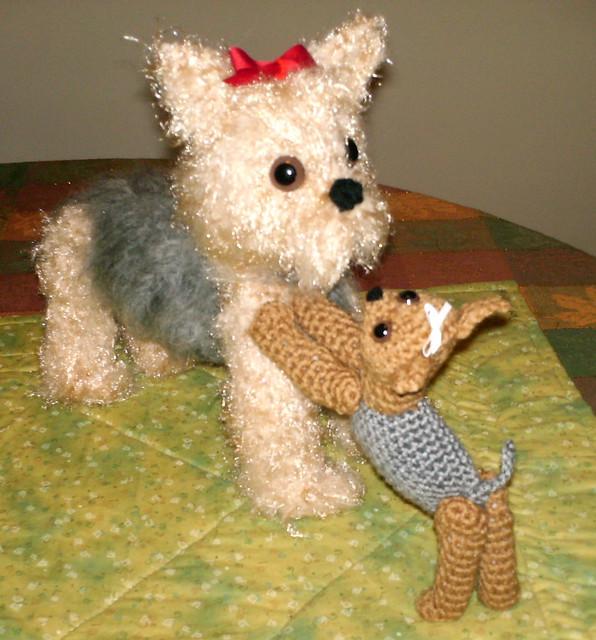 Amigurumi Yorkie Pattern : Crochet Yorkie Dog and Puppy Playing Flickr - Photo Sharing!