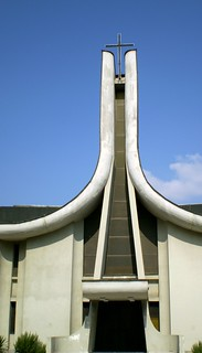 Image of my home. church architecture europe catholic macedonia balkans skopje makedonia скопје osm:node=170680108 osm:way=38765140