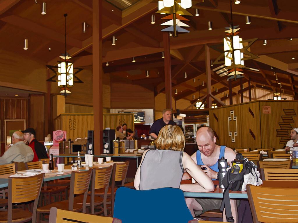 German Tourists at the Maswik Lodge Cafeteria, Autumn 2005