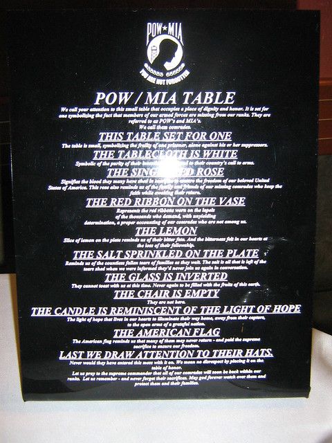 POW Table http://www.flickr.com/photos/stepol/2196222175/