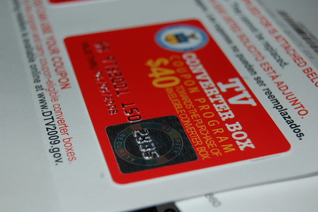 Government coupon for converter box
