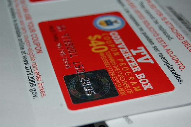 Government converter box coupon application