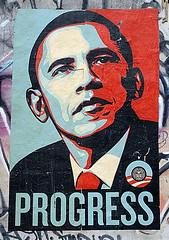 Obama Wheatpaste by Shepard Fairey.
