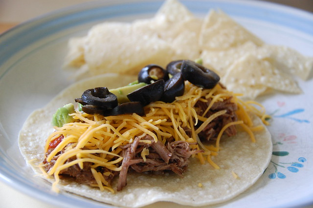 Crockpot Shredded Beef Soft Tacos   Flickr - Photo Sharing!