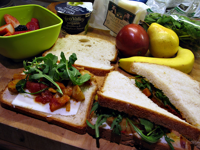 Day 213 - Goats Cheese and Veg Sandwich | Oh look another pi ...