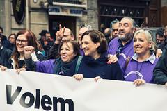 ds., 18/02/2017 - 20:58 - Ada Colau assisteix a la manifestació 'Volem acollir' convocada per Casa nostra, casa Vostra