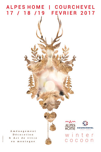 Affiche Alpes Home Winter Cocoon Courchevel 2017