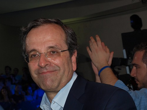 Antonis Samaras, head of Greece's main opposition party, New Democracy