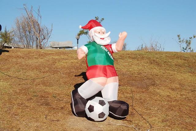 Santa claus playing soccer flickr photo sharing