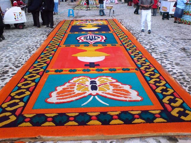 Alfombra para la procesi n de jes s de santa ana antigua for Antigua alfombras