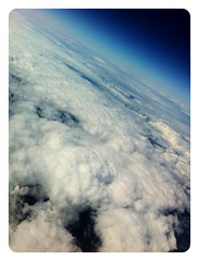 Photograph: Out the window over the Rockies