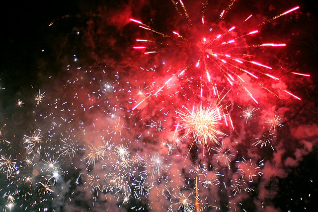 Firework Display - Hogmanay Street Party, Dornoch, Scotland