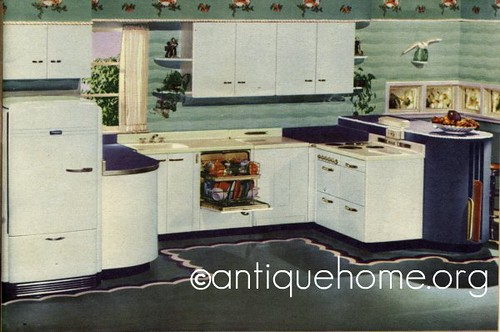 hotpoint kitchens   1947 1940s kitchens with vintage color schemes and design ideas  rh   antiquehome org