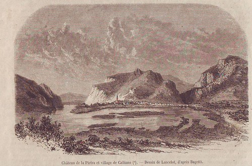 1770 ca - il villaggio di Calliano nel Settecento