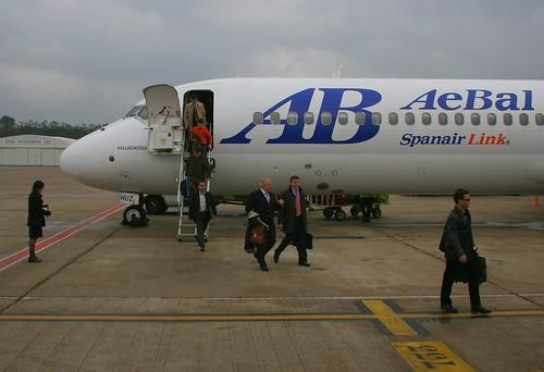 EC-HUZ. AeBal Boeing B-717-200 @ Girona