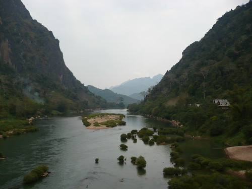 View from Bridge - Nong Khiaw, Laos