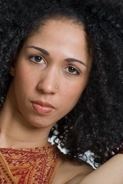 Beautiful African-American woman headshot