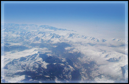 View above the Alps