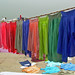 India - Varanasi - 031 - laundry on the ghats