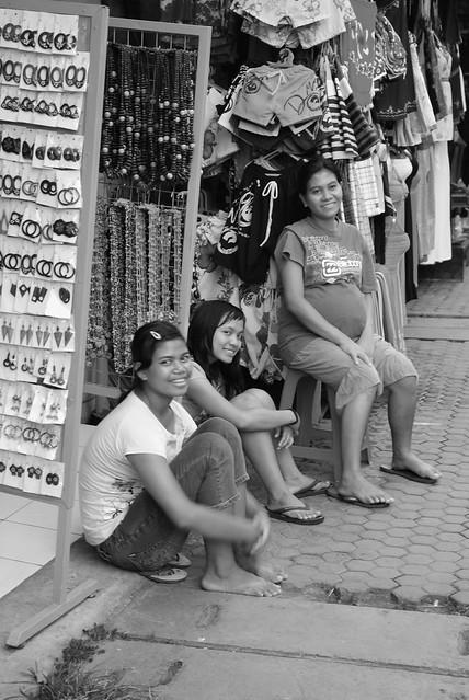 Família em cotitiano - Bali, Indonesia