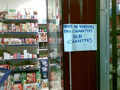 non cigarettes !