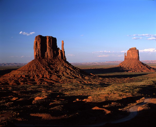 east and west mitten butte monument valley arizona