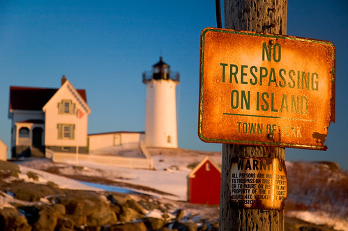 No Trespassing On Island