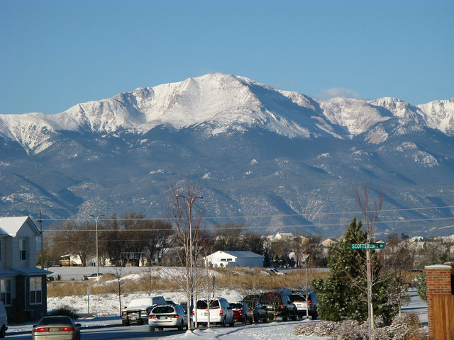 View Of Pikes Peak From Stetson Hills Flickr Photo