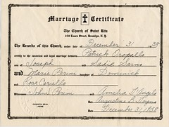 My grandparents' marriage certificate