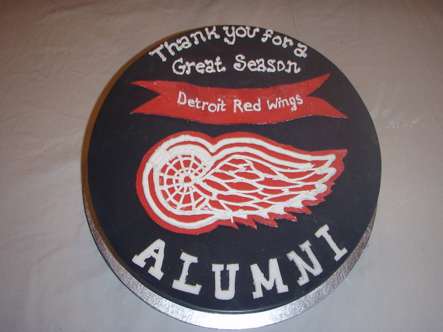 Red Wings Cake