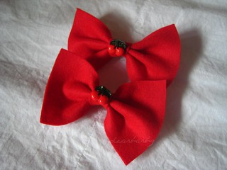 cherry barrettes