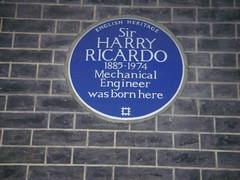 Photo of Harry Ricardo blue plaque