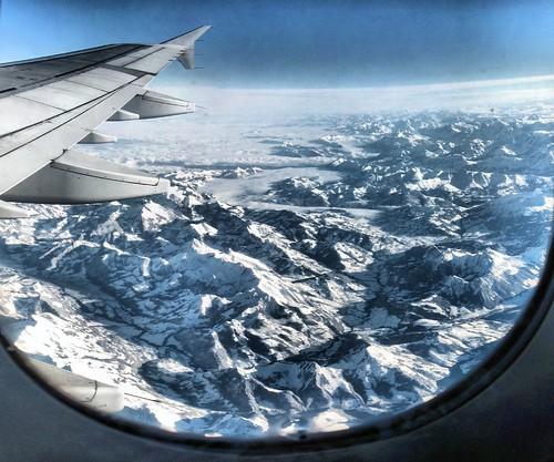 Passage des Alpes par AF 9803 - 13-01-2008 - 10h10