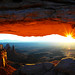 Mesa Arch Sunrise 01-01-04 by Woody 50
