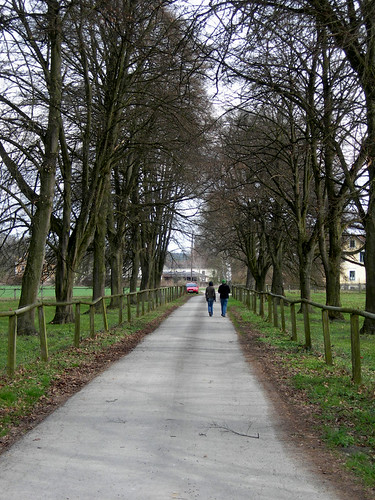 Schlossallee, walking