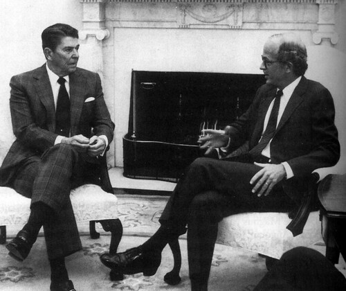 Ronald Reagan and Chester Crocker
