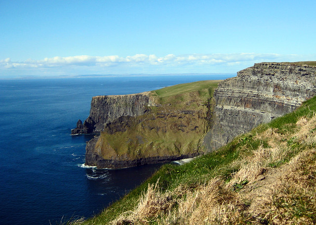 A sunny day at Ireland's Cliffs of Moher.