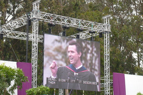 SFSU Commencement 2008 - Gavin Newsom Speaking 11